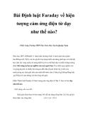 """Sáng kiến kinh nghiệm """"Bài Định luật Faraday về hiện tượng cảm ứng điện từ dạy như thế nào?"""""""