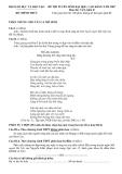 ĐỀ THI TUYỂN SINH ĐẠI HỌC, CAO ĐẲNG NĂM 2007 Môn thi: VĂN, khối D