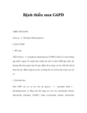 Bệnh thiếu men G6PD