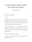 CÁC PHƯƠNG PHÁP XÉT NGHIỆM CHẨN ĐOÁN NẤM GÂY BỆNH