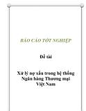 Đề tài: Xử lý nợ xấu trong hệ thống Ngân hàng Thương mại Việt Nam