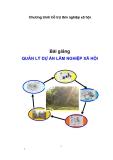 Bài giảng-Quản lý dự án lâm nghiệp xã hội -bài 1