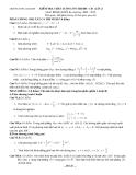 Kiểm tra chất l-ợng ôn thi ĐH - CĐ (Lần 2) Môn: Toán (khối a)