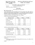 Đề thi tốt nghiệp chuyên ngành kế toán - Đề số 12