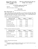 Đề thi tốt nghiệp chuyên ngành kế toán - Đề số 14