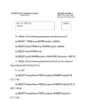 Đề thi trắc nghiệm cơ sở dữ liệu trường Cao Thắng- phần 5