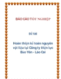 Đề tài: Hoàn thiện kế toán nguyên vật liệu tại Công ty Điện lực Bảo Yên - Lào Cai