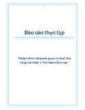 """Báo cáo thực tập """"Hoàn thiện công tác quản lý thuế thu nhập cá nhân ở Việt Nam hiện nay"""""""