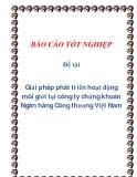 Báo cáo tốt nghiệp: Giải pháp phát triển hoạt động môi giới tại công ty chứng khoán Ngân hàng Công thương Việt Nam