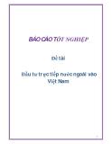 Đề tài: Đầu tư trực tiếp nước ngoài vào Việt Nam