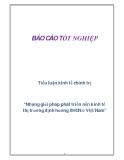 """Tiểu luận kinh tế chính trị """"Những giải pháp phát triển nền kinh tế thị trường định hướng XHCN ở Việt Nam"""""""
