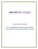 """Tiểu luận kinh tế chính trị """"Vai trò của Nhà Nước Việt Nam trong nền kinh tế thị trường định hướng xã hội chủ nghĩa ở Việt Nam"""""""