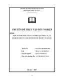 Đề tài: MỘT SỐ GIẢI PHÁP NÂNG CAO HIỆU QUẢ PHỤC VỤ VÀ KINH DOANH CỦA CHI NHÁNH DƯỢC PHẨM VĂN GIANG