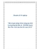 """Chuyên đề tốt nghiệp """" Một số giải pháp nhằm nâng cao chất lượng công tác Dân số - KHHGĐ huyện Bảo Yên- tỉnh Lào Cai đến năm 2010"""""""
