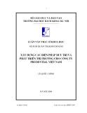Lận văn thạc sĩ Quản trị kinh doanh - Chương 1.1