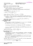 Đề thi thử toán - THPT Nguyễn Khuyến