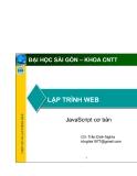LẬP TRÌNH WEB - JavaScript cơ bản
