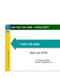 THIẾT KẾ WEB - Ngôn ngữ HTML