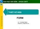 THIẾT KẾ WEB - TRẦN ĐÌNH NGHĨA
