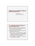 Bài giảng Kỹ thuật viễn thám (Hoàng Thanh Tùng) -  Hệ toạ độ dùng trong GIS