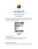 Giới thiệu cơ bản về css và cách thiết kế giao diện web sử dụng css