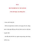 Bài 2:BÀI THƠ MỚI RA TÙ, TẬP LEO NÚI