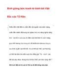 Bình giảng bức tranh tứ bình bài ViệtBắc của Tố Hữu