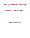 """Tài liệu: Bình giảng đoạn thơ trong""""Việt Bắc"""" của Tố Hữu"""