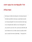 cảnh ngày hè của Nguyễn Trãi (tổng hợp)