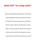 """phan tich """"vo cong a phu"""""""