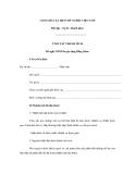 MẪU  TÓM TẮT THÀNH TÍCH Đề nghị UBND huyện tặng Bằng khen