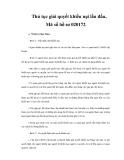 Thủ tục giải quyết khiếu nại lần đầu, Mã số hồ sơ 020172