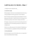 LOÉT DẠ DÀY-TÁ TRÀNG – Phần 3
