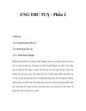 UNG THƯ TUỴ - Phần 2