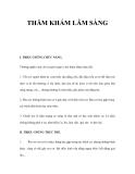 THĂM KHÁM LÂM SÀNG