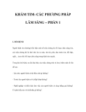 KHÁM TIM: CÁC PHƯƠNG PHÁP LÂM SÀNG – PHẦN 1