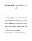 ĐAU BỤNG CẤP TÍNH VÀ MẠN TÍNH – Phần 1