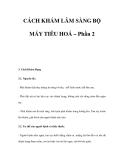 CÁCH KHÁM LÂM SÀNG BỘ MÁY TIÊU HOÁ – Phần 2