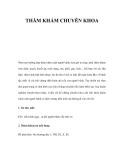 THĂM KHÁM CHUYÊN KHOA
