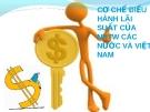 Cơ chế điều hành lãi suất của ngân hàng trung ương các nước và Việt Nam