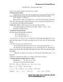Bài giảng môn cơ sở lý thuyết hoá học - Chương III - Cân bằng hoá học