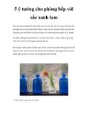 5 ý tưởng cho phòng bếp với sắc xanh lam