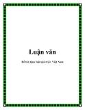 Quy luật giá trị ở  Việt Nam