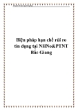 Biện pháp hạn chế rủi ro tín dụng tại NHNo&PTNT Bắc Giang