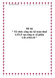 """Đề tài """" Tổ chức công tác kế toán thuế GTGT tại công ty cổ phần LILAMA10 """""""