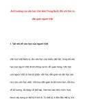 Ảnh hưởng của văn học chữ Hán