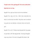 Tài liệu tham khảo: Thuyết minh về tác giả Nguyễn Trãi