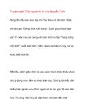 """Truyện ngắn """"Chữ người tử tù"""" của Nguyễn Tuân"""