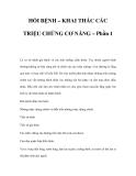 HỎI BỆNH – KHAI THÁC CÁC TRIỆU CHỨNG CƠ NĂNG – Phần 1
