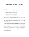 Hội chứng tắc ruột – Phần 1